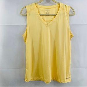 Women's LLBean yellow tank top